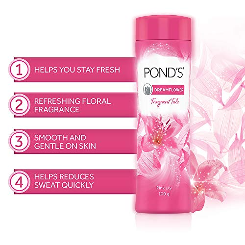 51ZMjyG6l9L POND'S Dreamflower Fragrant Talcum Powder, Pink Lily, 400 g