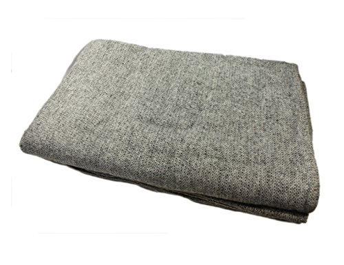 "Kerry Woollen Mills Wool Blanket Heavy Large 90"" Wide by 108"" Long Finished Edges Slate Grey Soft & Warm Made in Ireland"