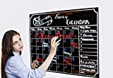 Monthly Dry Erase Refrigerator Calendar With Vintage Chalkboard Design   Includes 3 Easy–Erase Chalk Markers  16X12 Magnetic BlackBoard Organizer with To-Do List