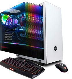 CYBERPOWERPC Gamer Supreme Liquid Cool SLC10220CPG Gaming PC (Intel i9-9900K 3.6GHz, 16GB DDR4, NVIDIA GeForce RTX 2080 8GB, 480GB SSD, 3TB HDD, WiFi & Win 10 Home) White