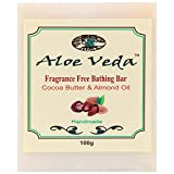 Aloe Veda Fragrance Free Bathing Bar Cocoa Butter & Almond Oil 100g