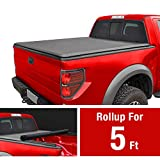 MaxMate Roll Up Truck Bed Tonneau Cover Works with 2005-2019 Nissan Frontier; 2009-2014 Suzuki Equator | Fleetside 5' Bed | for Models with or Without The Utili-Track System