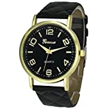 Product review for BCDshop Quartz Watch Womens Business Casual Geneva Faux Leather Classic Analog Quartz Wrist Watch Gift