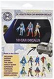 DC Comics ST DCFAM ADLTPACK Family Pack DC Originals Adults Car Window Sticker Decal