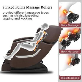 Full-Body-Electric-Zero-Gravity-Shiatsu-Massage-Chair-with-Bluetooth-Heating-and-Foot-Roller-for-Home-and-OfficeBrown