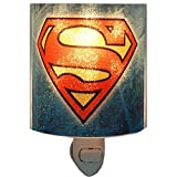 Westland Giftware Superman Logo Acrylic Nightlight with Rotating Plug and On/Off Switch