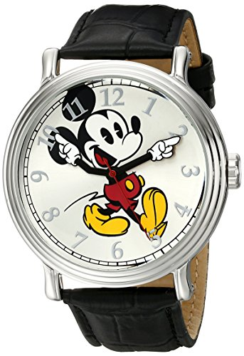 Disney Men's Mickey Mouse Silver-Tone Watch