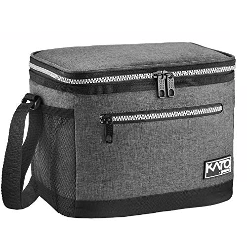 Insulated Lunch Bag for Women Men, Leakproof Thermal Reusable Lunch Box for Adult & Kids, Lunch Cooler Tote for Office Work by Tirrinia, Dark Grey