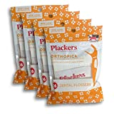 Plackers Orthopick Flosser for Braces, Pack of 4 (36 Flossers Each)