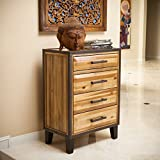 Product review for Glendora Natural Stain Solid Wood Four Drawer Storage Dresser