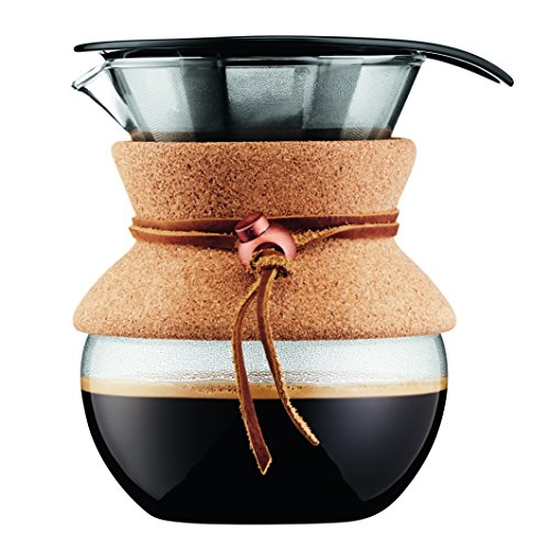 Bodum Pour Over Coffee Maker, 17 Ounce, .5 Liter, Cork Band