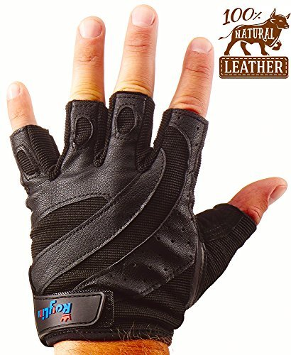 Gym Workout Gloves – Weight Lifting Training Fitness Gloves for Men And Women Heavy Duty Protection – Weightlifting Sport Crossfit Gloves For Exercise – Premium Leather Fingerless Gloves