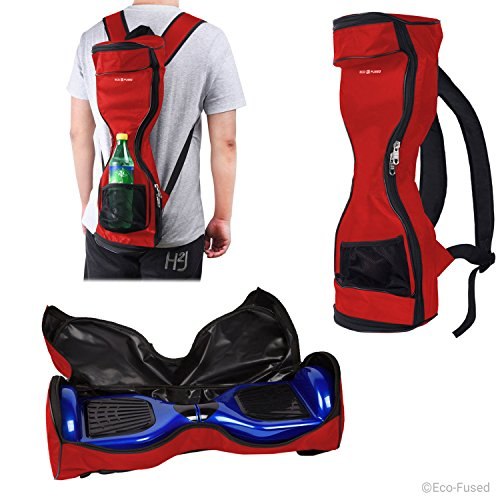 Waterproof Backpack to Carry/Store Your Drifting Board (Two Wheels Smart Balance Board Scooter Electric Self Smart Drifting Board) - Carry Handle for 7' Wheels and max. 23.5' Long - Red