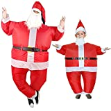 Luxury Santa Claus Inflatable Costume Funny Festive Day Dressing Suit Merry Christmas (Child size(90-130CM))