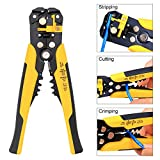 Wire Stripper,KISENG Multifunctional Automatic Cable Wire Stripper Cutting Plier Self Adjusting Crimper Tool 22-10AWG(0.5-6.0mm)