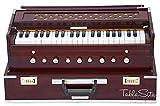 Maharaja Musicals, Folding Harmonium Instrument, In USA, 9 Stops, Rosewood Color, Safri, 3 1/2 Octave, Coupler, Book, Bag, Tuned To A440, Musical Instrument Indian (PDI-AHF)