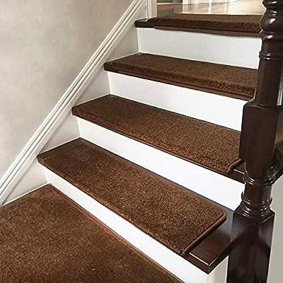 Yhegv Carpet Running Staircase Glide Self Adhesive Solid Wood | Running Carpet For Stairs | Carpet Runners | Laminate Flooring | Runner | Hallway | Grey