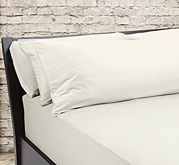 SHEEX – Original Performance Fitted Sheet, 1 (One) Fitted Sheet ONLY, Ultra-Soft Fabric Transfers Body Heat and Breathes Better Than Traditional Cotton, Ecru (Queen)