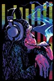 Pyramid America Funky Monkey Blacklight Smoking Headphones Blacklight Poster 24x36 inch
