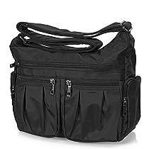 Volcanic Rock Shoulder Bag Corss-body Purse Waterproof Nylon Travel Handbags with Zipper for Women