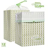 Clean Cubes 12 Count Disposable Trash Cans And Recycling Bins For Home Office With Liner Bags Bulk