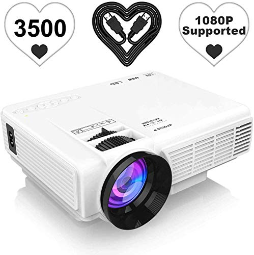 [Latest Upgrade] 3500Lumens Mini Projector, Full HD 1080P 170″ Display Supported, PS4,TV Stick, Smartphone, USB, SD Card Supported, Great for Home Theater Movies