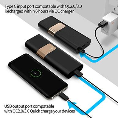 iWALK-20000mAh-Portable-Charger-QC30-Power-Bank-Built-in-USB-C-Micro-USB-Cables-Compatible-with-iPhone-1212-Mini12-Pro-Max11-XS-Max-8-7-6-PlusSamsung-S20S10-and-MoreBlack