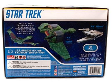 Polar-Lights-Star-Trek-USS-Grissom-and-Klingnon-BoP-11000-Scale-Snap-Model-Kit