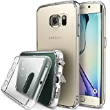 Ringke [FUSION] Galaxy S6 Edge Case, Brilliant Crystal Clear Transparent Hybrid Fortified PC Back Supple Silicone Bumper [Impact Resistant/Shock Absorption] For Samsung Galaxy S6 Edge - Clear
