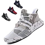 SKDOIUL White Sneakers for Men Shoes Size 12 2019 Summer mesh Breathable Comfort Lightweight Youth Boys Tennis Shoes Gym Workout Athletic Walking Fashion Sneaker (1818-White-46)