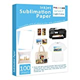 Sublimation Paper Heat Transfer Paper 100 Sheets 8.3' x 11.7' for Any Epson HP Canon Sawgrass Inkjet Printer with Sublimation Ink DIY Christmas Gift