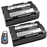 ValuePack (2 Count): Digital Replacement Camera and Camcorder Battery for Panasonic CGR-D120, CGR-D08 - Includes Lens Pouch