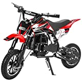 49CC 2-Stroke Gas Power Mini Dirt Bike,Pit Bike Dirt Off Road Motorcycle, Scooter (Red)