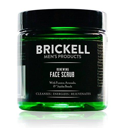 Brickell Men's Renewing Face Scrub for Men, Natural & Organic Exfoliating Facial Scrub - 4 oz