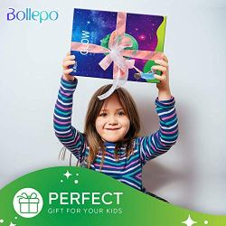 """Bollepo Glow in the Dark Moon Wall Art Stickers – Night Light Glowing Wall Decal with Removable Adhesive for Boy and Girl Bedroom, Party Decor, Child's Playroom, Baby Nursery or Classroom -11.8""""/30cm"""