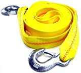 """Hardware Factory Store HFS (R) 2"""" X 30', 4.5 Ton 2 Inch X 30 Ft. Polyester Tow Strap Rope 2 Hooks 10,000lb Towing Recovery"""