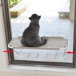 Hamaca de Ventana para Gatos con Soporte Inferior de Seguridad