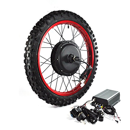 "NBPower 2018 Newest and motorcycle wheel: 19"" 3000W Electric Bike Conversion Kit, 72V 100A Sine Wave Programmable Controller, 3000W Brushless gearless motor, 3000W Electric Bike Kit."