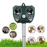 NoBug Animal Repellent Ultrasonic Outdoor, Animal Repeller, Solar Animal Repeller with Motion Sensor, Waterproof Outdoor Repels Deer Raccoon Rabbit Squirrel Cat Dog Bird