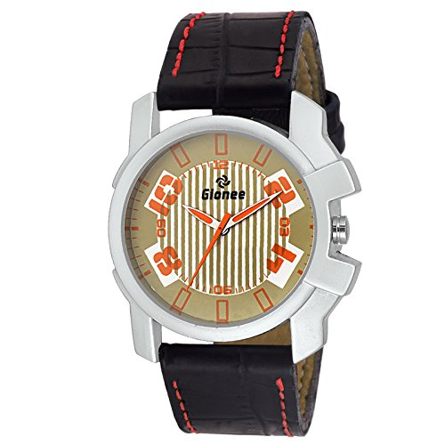 Buy Gionee Mrt Og Brown Dial Casual Wrist Watch For Men With Durable Leather Stripe Online At Low Prices In India Amazon In
