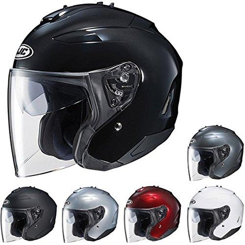 HJC IS-33 II Open-Face Motorcycle Helmet (Matte Black, Medium)