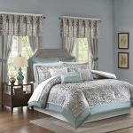 Madison-Park-Essentials-Brystol-24-Piece-Room-in-a-Bag-Faux-Silk-Comforter-Jacquard-Paisley-Design-Matching-Curtains-Down-Alternative-Hypoallergenic-All-Season-Bedding-Set-King104x92-Teal