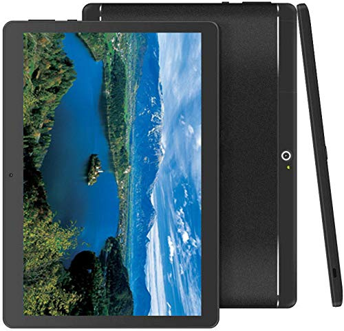 Foren-Tek Android Tablet with SIM Card Slot Unlocked 10 inch -10.1' IPS Screen Octa Core 4GB RAM 64GB ROM 3G Phablet with WiFi GPS Bluetooth Tablet (Black)