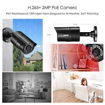 ZOSI-1080p-H265-PoE-Security-Camera-System-8CH-5MP-PoE-NVR-Recorder-and-8-x-1080p-Surveillance-Bullet-IP-Cameras-Outdoor-Indoor-with-120ft-Long-Night-Vision-No-Hard-Drive-Included-Remote-Access