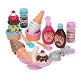 Play Circle by Battat - Sweet Treats Ice Cream Parlour - 21-piece Pretend Ice Cream Set for Kids - Pretend Play Food Sets for Toddlers Age 3 Years and Up