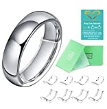 Feramox Invisible Ring Size Adjuster for Loose Rings Ring Adjuster Fit Wide Rings with Jewelry Polishing Cloth