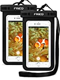 FRiEQ Waterproof Case for Outdoor Activities - Waterproof Bag/Pouch ForiPhone Xs Max/XR/X / 8 / 8P / 7 / 7P Galaxy - IPX8 Certified to 100 Feet (2-Pack)