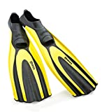 Mares Superchannel Full Foot Scuba Fins, 8/9, Yellow