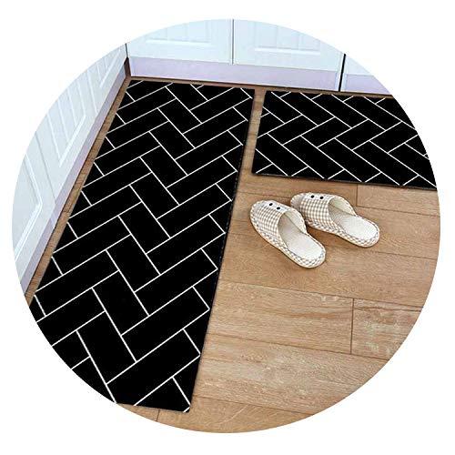 Polyester+Rubber Slip-Resistant Washable Entrance Doormat Floor Mat Kitchen Long Carpet Corridor Rug Front Door Entry Funny Mats,E,40x60 and 40x120cm