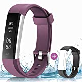 HolyHigh Fitness Tracker Smart Watch- Purple and Black